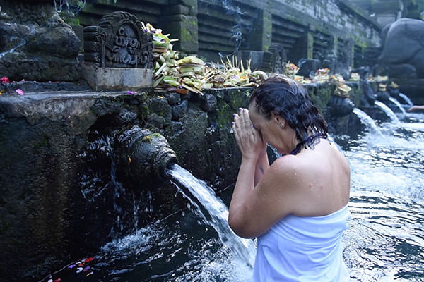 Purification ritual Bali